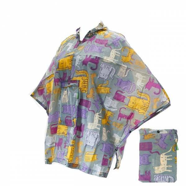 46802 Funky Cat Small Foldable Poncho