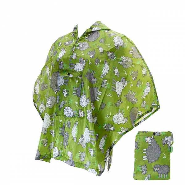 46804 Sheep Small Foldable Poncho
