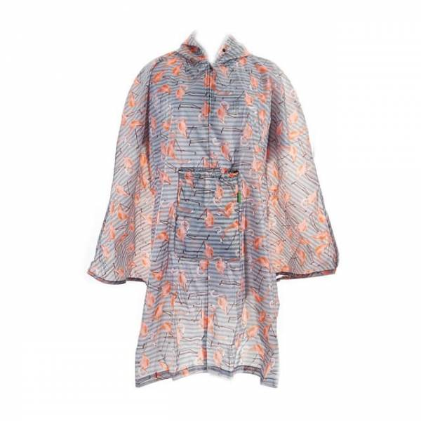 46912 Flamingo Foldable Poncho