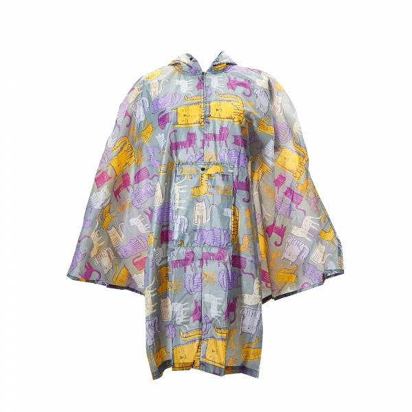 46914 Funky Cat Foldable Poncho
