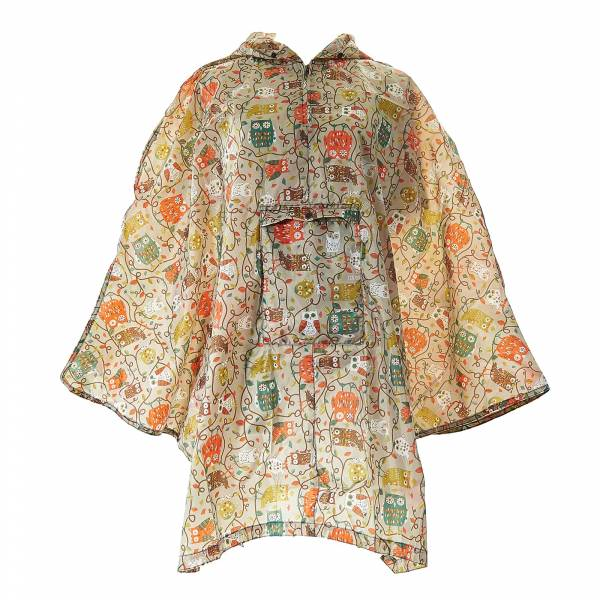 46919 L02  Owl On The Branch Foldable Poncho