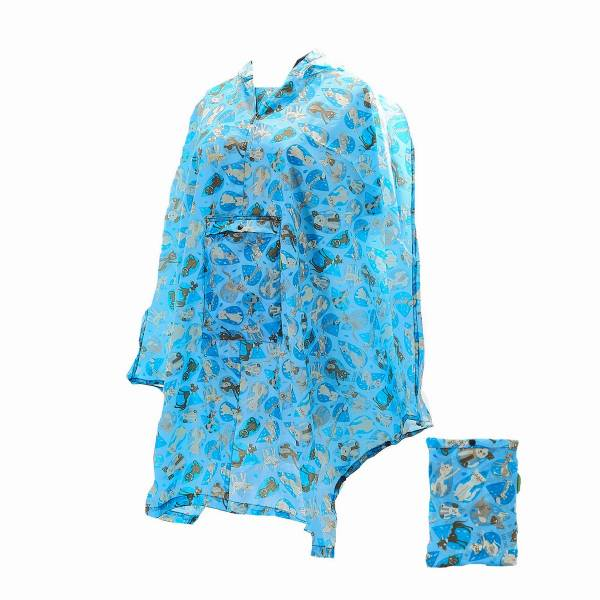 46928 Blue Rainy Cat And Dog Foldable Poncho