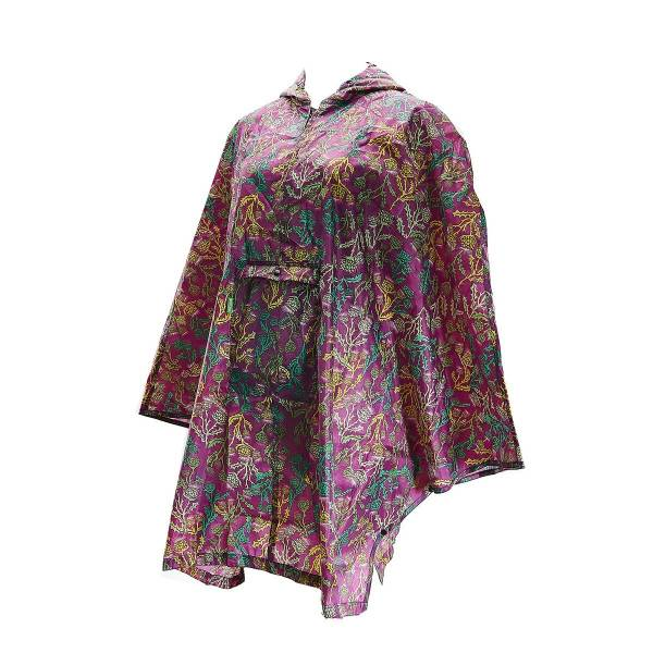 46932 Purple Thistle Foldable Poncho Pack Of 2