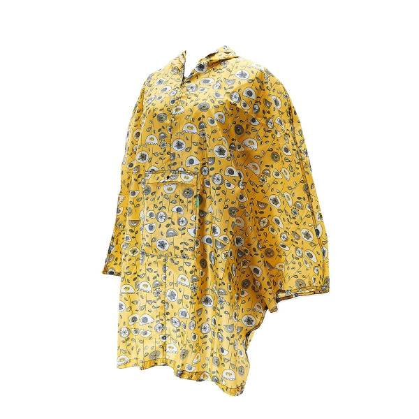 46933 Mustard 1950's Flower Foldable Poncho Pack Of 2