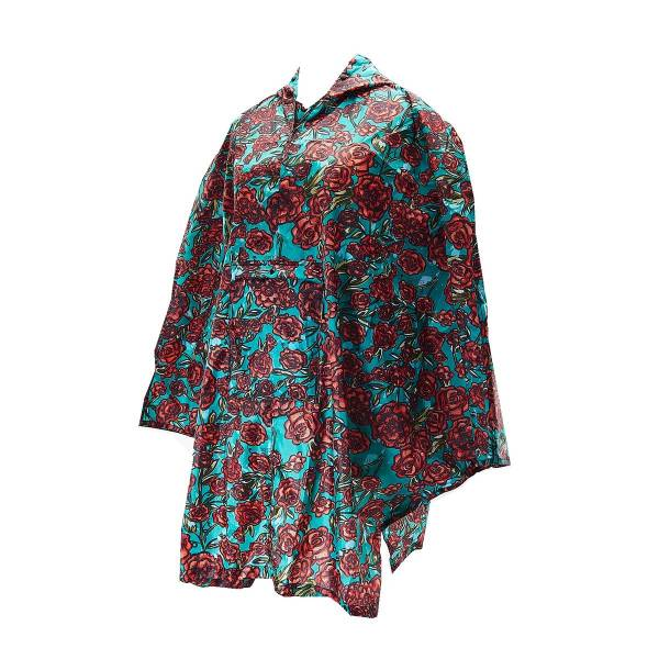 46935 Green Rose Foldable Poncho Pack Of 2