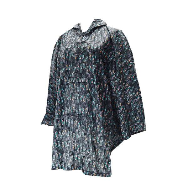 46937 Black Feather Foldable Poncho Pack Of 2