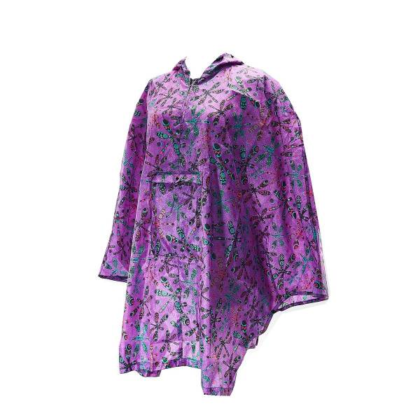 46941 Purple Dragonfly Foldable Poncho Pack Of 2