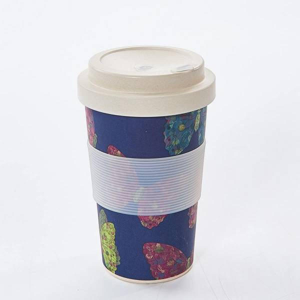 81001 Navy Butterfly Bamboo Cup Pack of 3