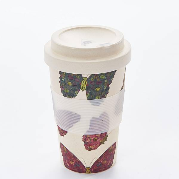 81001 Neutral Butterfly Bamboo Cup Pack of 3