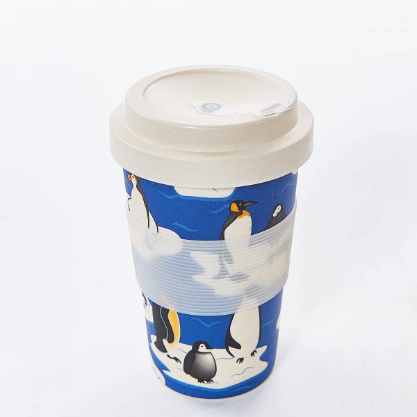 81007 Blue Penguin Bamboo Cup Pack of 3