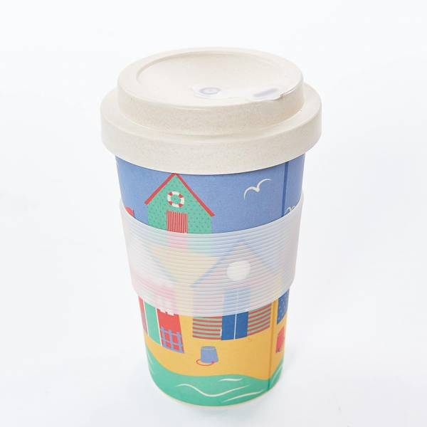 81009 Beach Huts Bamboo Cup Pack of 3