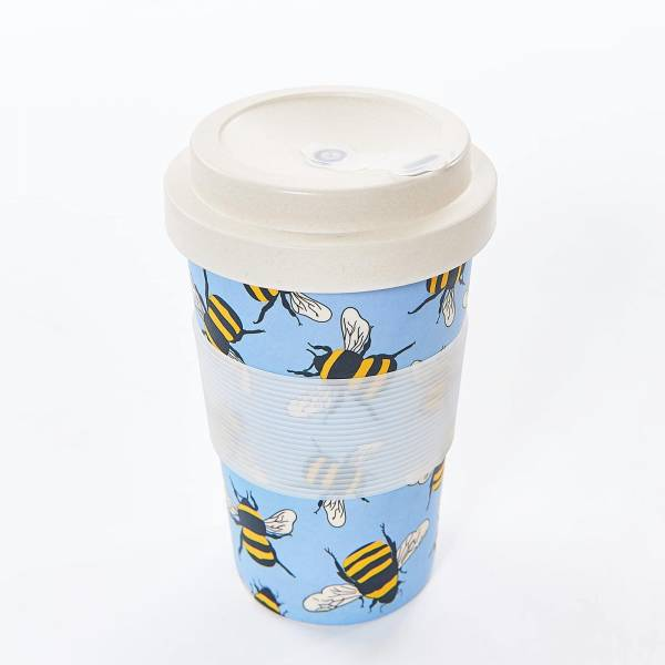 81010 Blue Bees Bamboo Cup Pack of 3