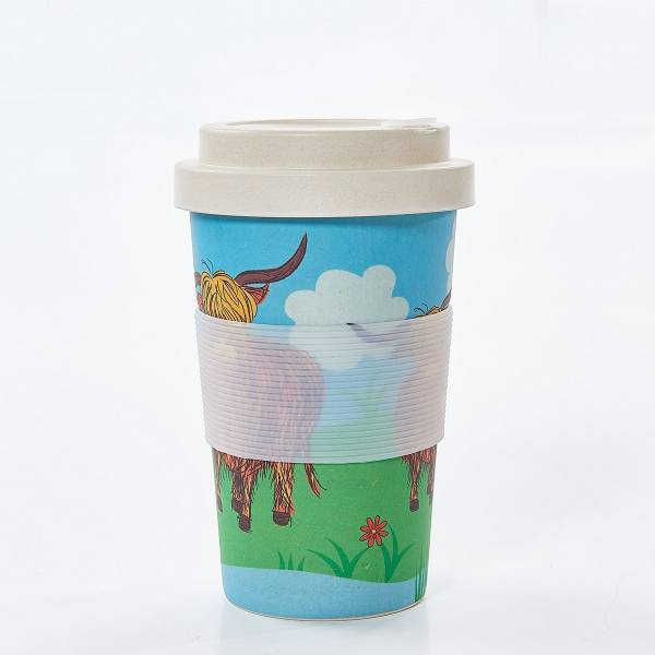 81012 Highland Cow Bamboo Cup Pack of 3