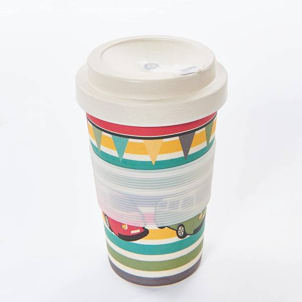 81020 Camper Vans Bamboo Cup Pack of 3