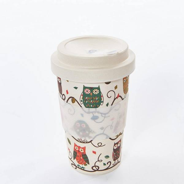 81021 Owl on the Branch Bamboo Cup Pack of 3