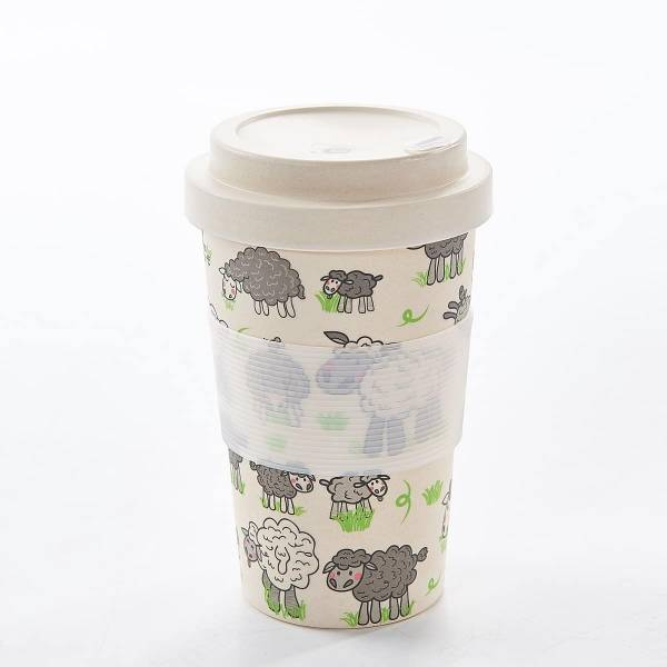 81022 Sheep Design Bamboo Cup Pack of 3