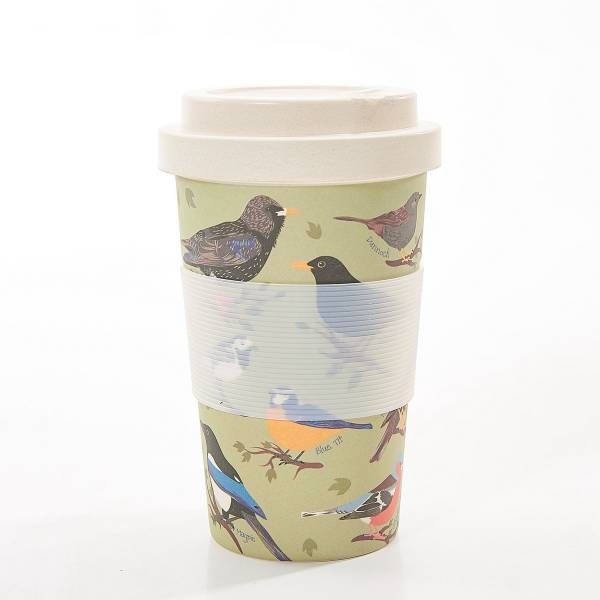 81024 Green Wild Birds Bamboo Cup Pack Of 3
