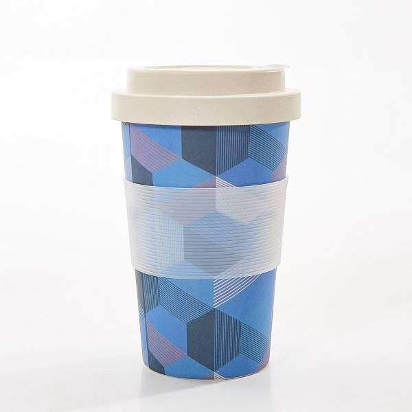 81027 Blue Triangle Bamboo Cup Pack Of 3