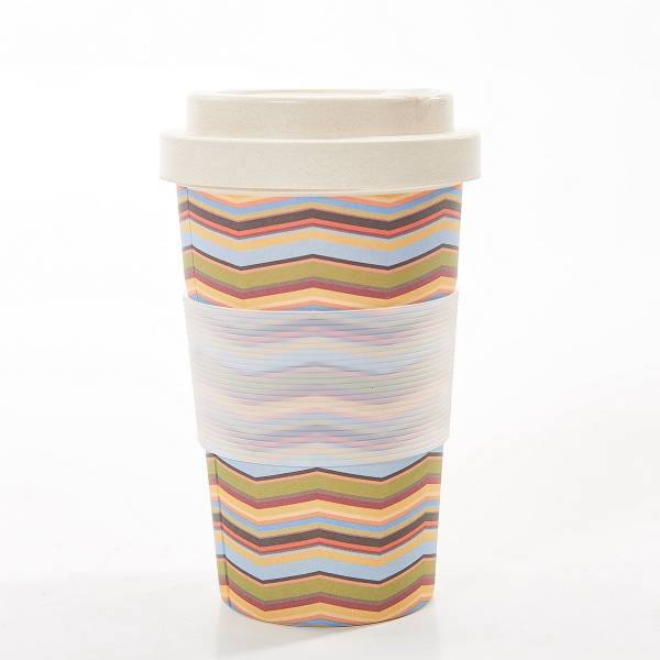 81028 Neutral Zig Zag Bamboo Cup Pack Of 3