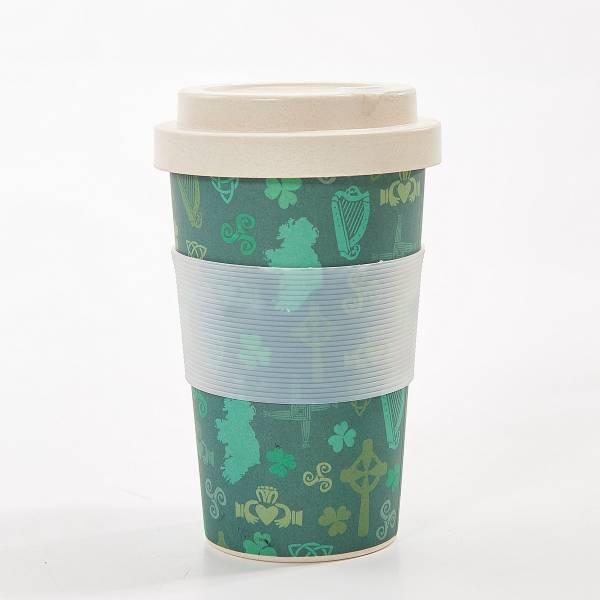 81031 Green Irish Montage Bamboo Cup Pack Of 3