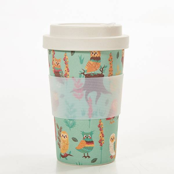 81032 Blue Owl Bamboo Cup Pack of 3