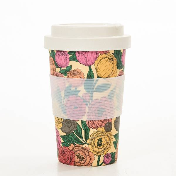 81033 Peonies Bamboo Cup Pack of 3