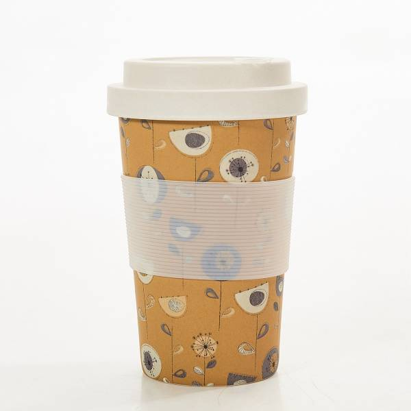 81038 Taupe 1950s Bamboo Cup Pack of 3