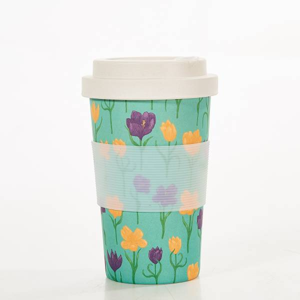 81040 Blue Crocus Bamboo Cup Pack of 3