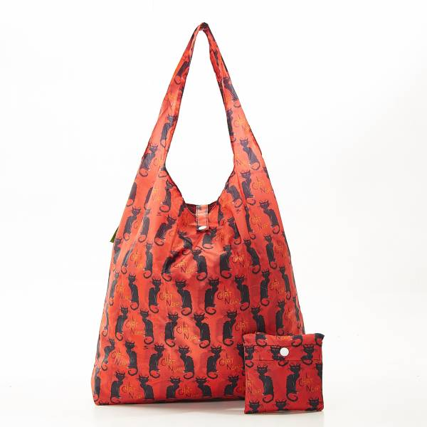 A03 Burgundy Le Chat Noir Shopper x2