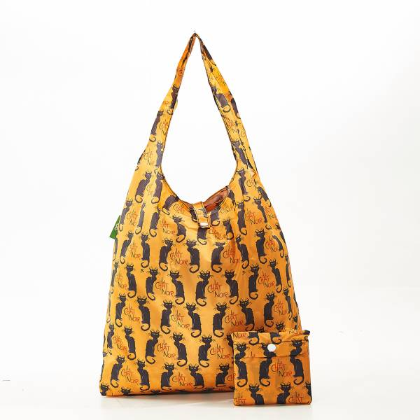 A03 Mustard Le Chat Noir Shopper x2