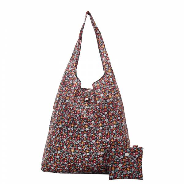 A04 Black Ditsy Shopper x2