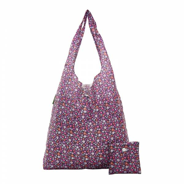 A04 Purple Ditsy Shopper x2