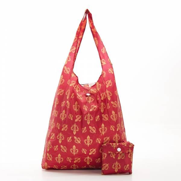 A05 Red Fleur de Lys Shopper x2