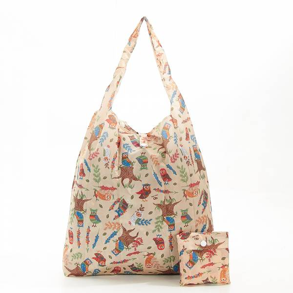 A07 Beige Owl Shopper x2