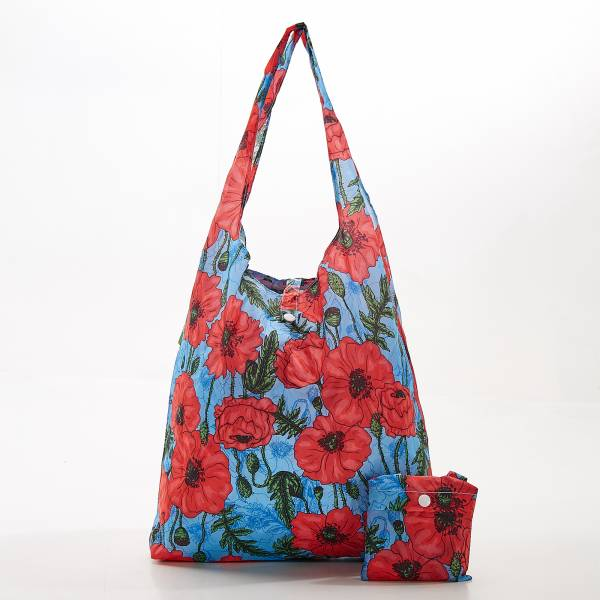 A09 Blue Poppies Shopper x2