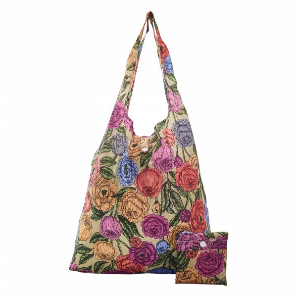 A11 Green Peonies Shopper x2