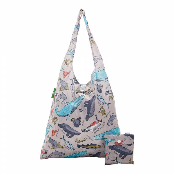 A12 Grey Sea Creatures Shopper x2