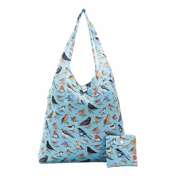 A17 Blue Wild Birds Shopper x2