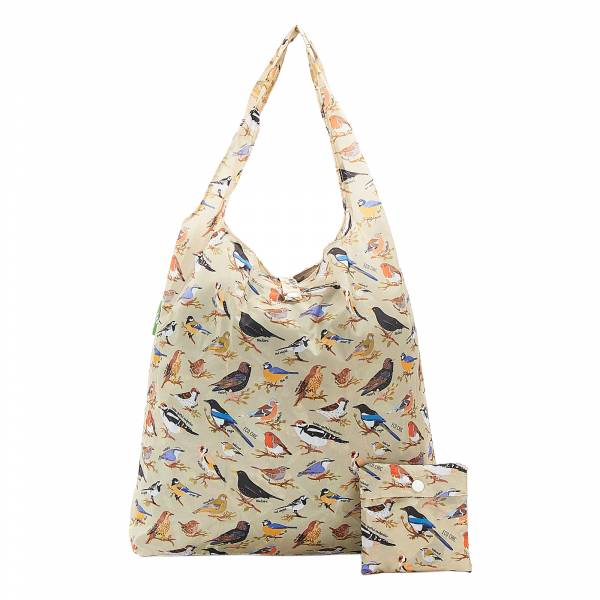 A17 Green Wild Birds Shopper x2