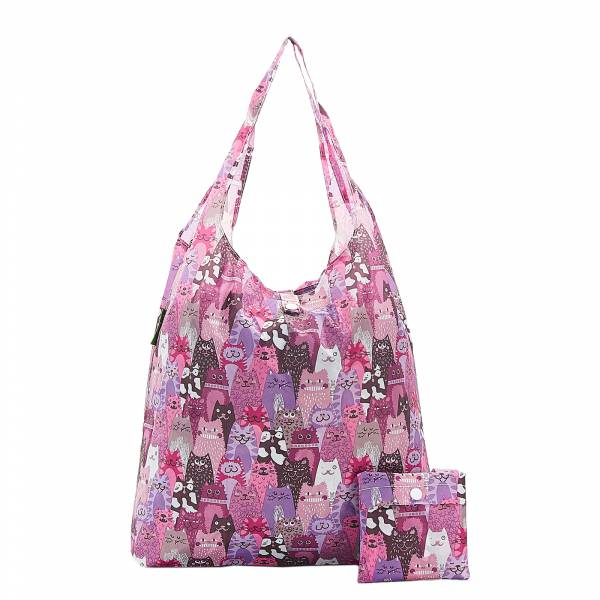 A19 Purple Stacking Cats Shopper x2