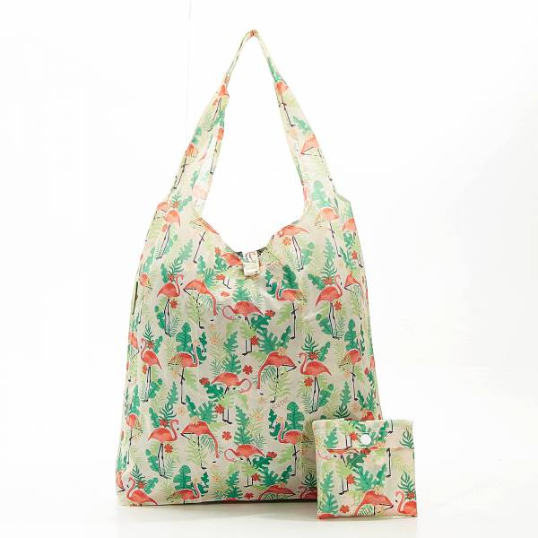 A20 Beige Flamingo Shopper x2