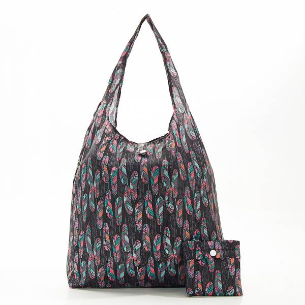 A22 Black Feather Shopper x2