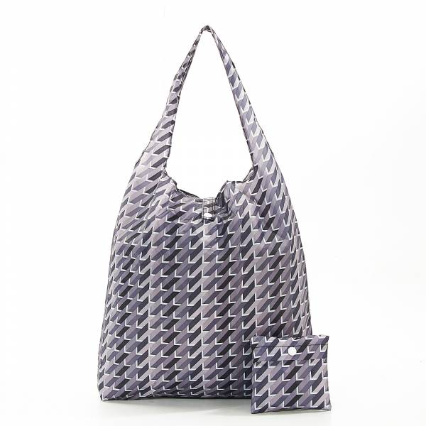 A23 Grey Geometric Shopper x 2