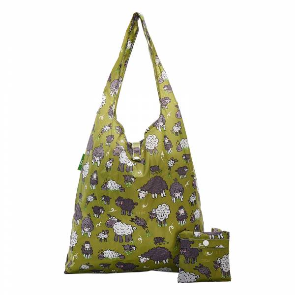 A28 Green Sheep Shopper x2