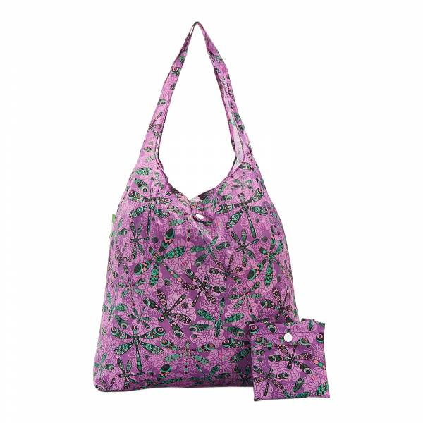 A31 Purple Dragonfly Shopper x2