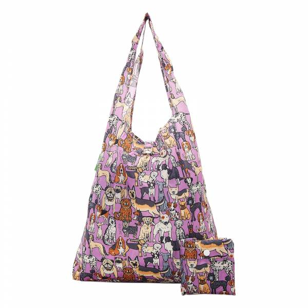 A33 Lilac Dogs Shopper x2