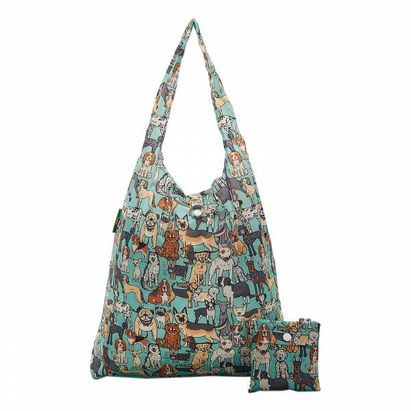 A33 Teal Dogs Shopper x2