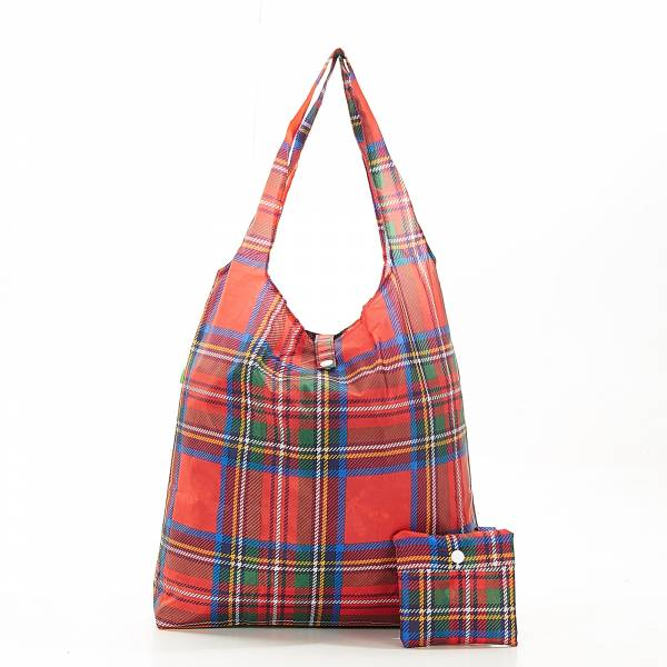 A34 Red Tartan Shopper x2