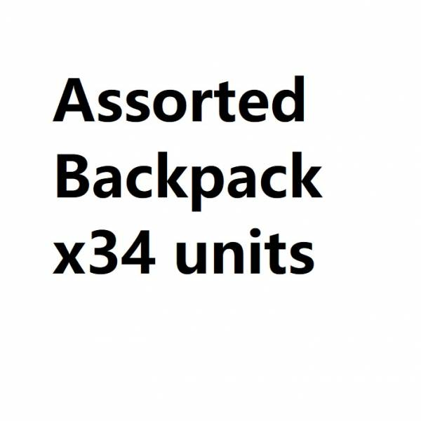 Assorted Backpack x 34 Was £255 Now £153