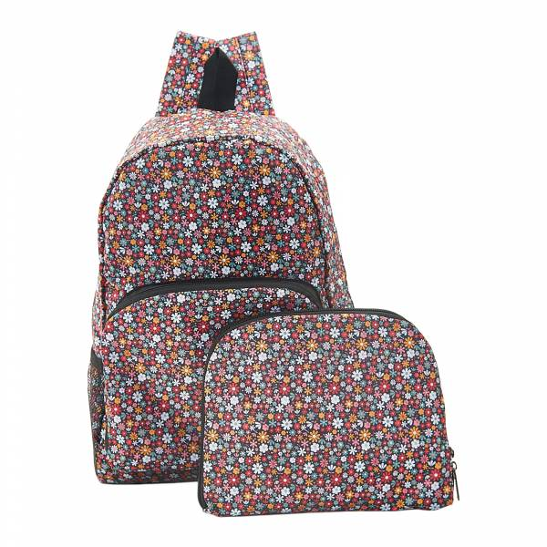 B04 Black Ditsy Backpack x2